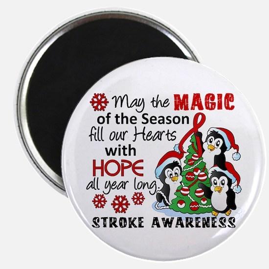 """Holiday Penguins Stroke 2.25"""" Magnet (10 pack)"""