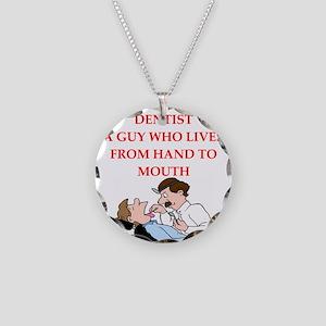 dentist Necklace Circle Charm