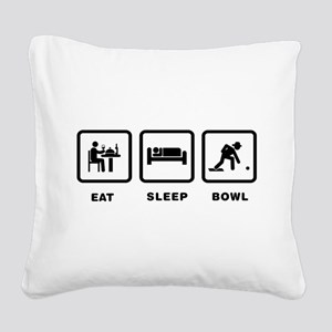 Lawn Bowl Square Canvas Pillow