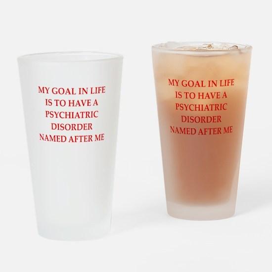 psych joke Drinking Glass