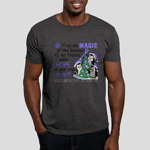 Holiday Penguins Stomach Cancer Dark T-Shirt