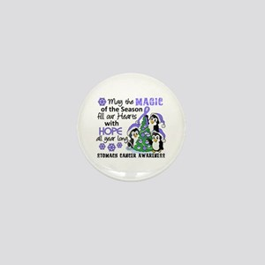 Holiday Penguins Stomach Cancer Mini Button