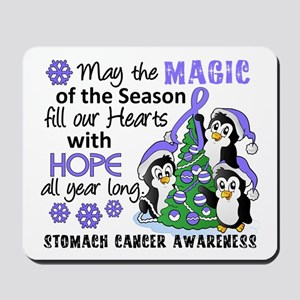 Holiday Penguins Stomach Cancer Mousepad