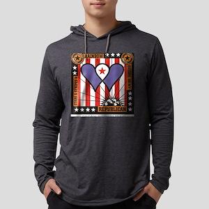 Rainbow Republican Mens Hooded Shirt