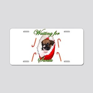 Waiting for Santa Boxer Puppy Aluminum License Pla