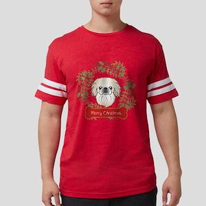 Pekingese Christmas Wreath Mens Football Shirt