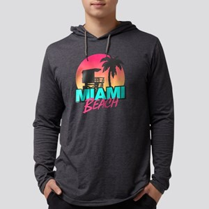 Miami beach Mens Hooded Shirt