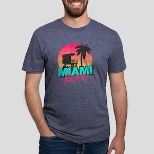 Miami beach Mens Tri-blend T-Shirt