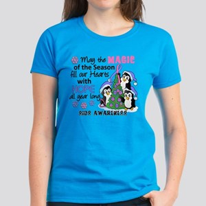 Holiday Penguins SIDS Women's Dark T-Shirt
