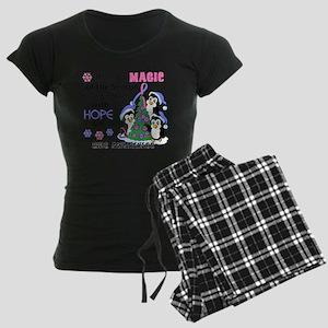 Holiday Penguins SIDS Women's Dark Pajamas
