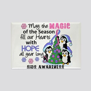 Holiday Penguins SIDS Rectangle Magnet