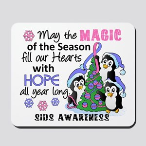 Holiday Penguins SIDS Mousepad