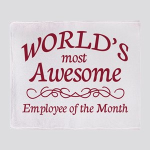 Employee of the Month Throw Blanket