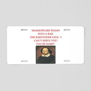 shakespeare Aluminum License Plate