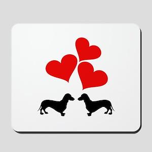 Hearts & Dachshunds Mousepad