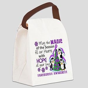 Holiday Penguins Sarcoidosis Canvas Lunch Bag