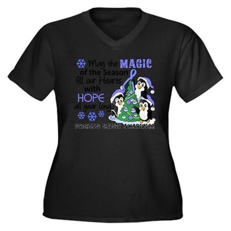 Holiday Penguins Prostate Cancer Women's Plus Size