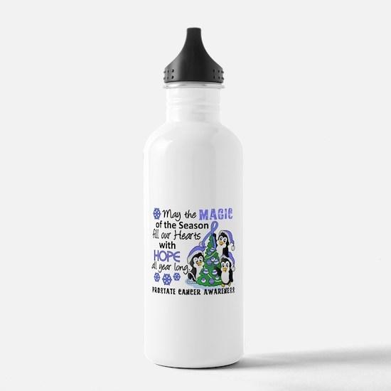 Holiday Penguins Prostate Cancer Sports Water Bottle