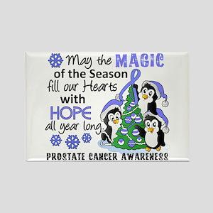 Holiday Penguins Prostate Cancer Rectangle Magnet