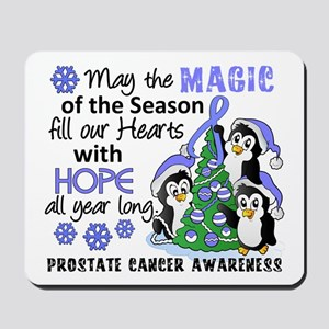 Holiday Penguins Prostate Cancer Mousepad