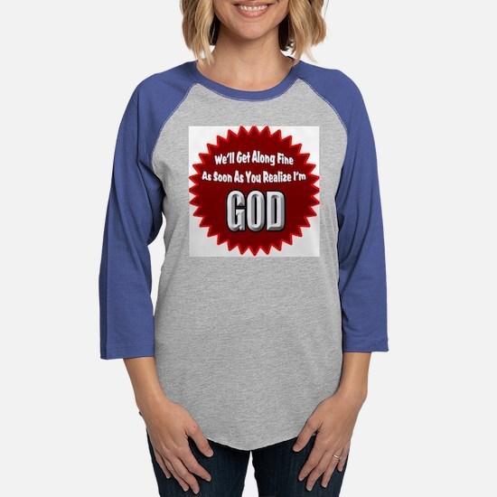 TSHIRT GOD.png Womens Baseball Tee