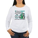 Holiday Penguins PKD Women's Long Sleeve T-Shirt
