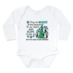 Holiday Penguins PKD Long Sleeve Infant Bodysuit