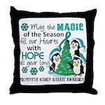 Holiday Penguins PKD Throw Pillow