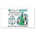 Holiday Penguins PKD Sticker (Rectangle)