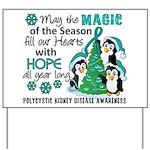 Holiday Penguins PKD Yard Sign