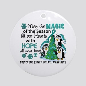 Holiday Penguins PKD Ornament (Round)