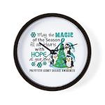 Holiday Penguins PKD Wall Clock