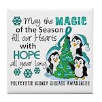Holiday Penguins PKD Tile Coaster
