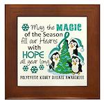 Holiday Penguins PKD Framed Tile