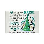 Holiday Penguins PKD Rectangle Magnet (10 pack)