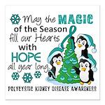 Holiday Penguins PKD Square Car Magnet 3