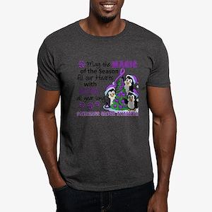Holiday Penguins Pancreatic Cancer Dark T-Shirt