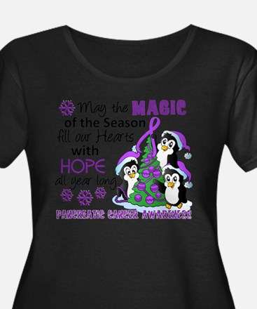 Holiday Penguins Pancreatic Cancer T