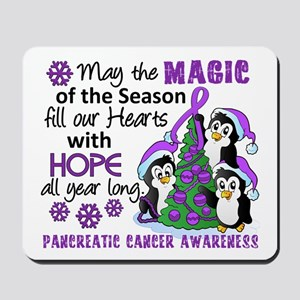 Holiday Penguins Pancreatic Cancer Mousepad