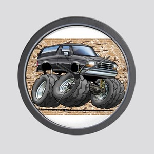 95_Black_Bronco Wall Clock