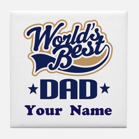 DAD (WORLDS BEST) Tile Coaster
