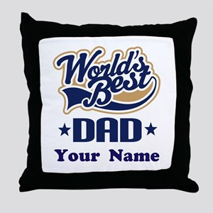 DAD (WORLDS BEST) Throw Pillow