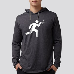 Run With Scissors Mens Hooded Shirt