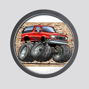 95_Red_Bronco Wall Clock