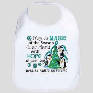 Holiday Penguins Ovarian Cancer Bib