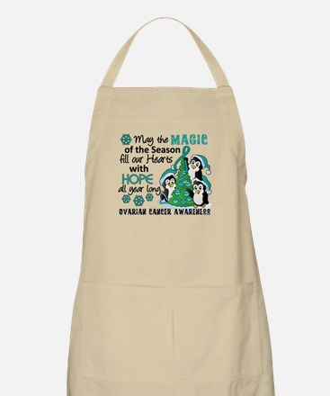 Holiday Penguins Ovarian Cancer Apron