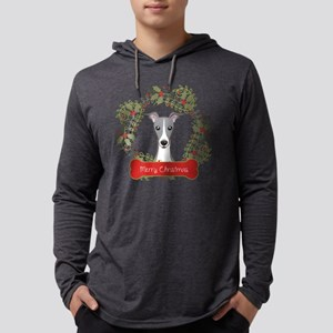 Italian Greyhound Christmas Wrea Mens Hooded Shirt