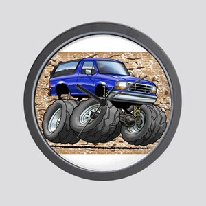 95_Blue_Bronco Wall Clock
