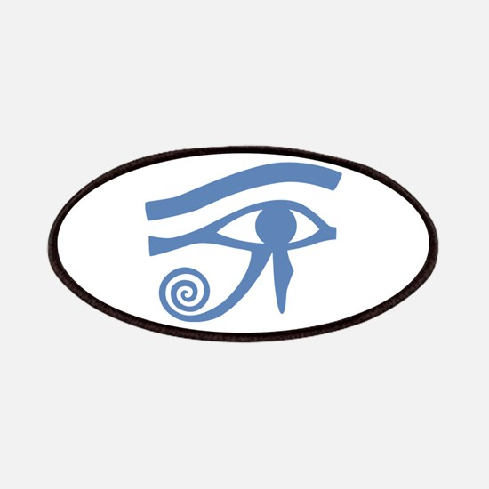 Blue Eye of Horus Hieroglyphic Patches