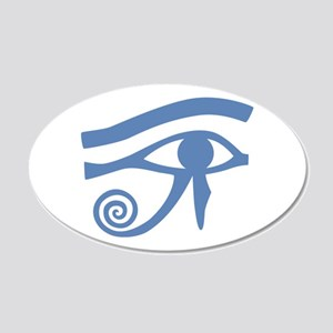 Blue Eye of Horus Hieroglyphic 20x12 Oval Wall Dec